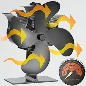 新品 好評 Rmally スト-ブファン 8-48 日本語説明書 (4つブレ-ド) 薪スト-ブファン エコスト-ブファン 暖炉用スト-ブファン