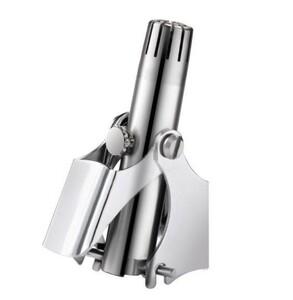 手動 鼻毛カッター 鼻毛処理 水洗い可能 回転式 (非充電式 シルバー)