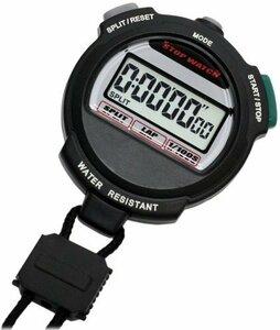 【即日発送】 : ブラック [クレファー]CREPHA デジタルストップウォッチ 3気圧防水 カウントダウン計測 ブラック