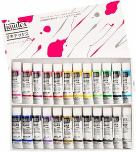 Lyketex acrylic paint ricketex color regular type 24 color set