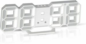 Formemory 電子時計 おしゃれ 目覚まし時計 LEDデジタル時計 壁掛け 卓上 置き時計 温度表示 日付表示 明るさ調整