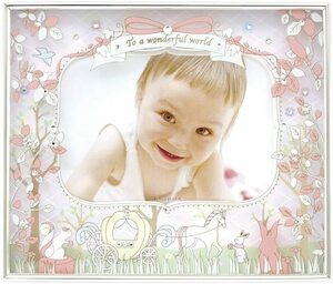 Kishima Kishima Ainne Baby Frame Pink Pink KP-31079 0 Month to 36 Months Birth Celebration