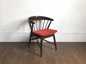 飛騨産業 キツツキ ビンテージ アームチェア 肘掛椅子 アンティークスタイル 椅子/レトロ/リビング/ヴィンテージ/中古