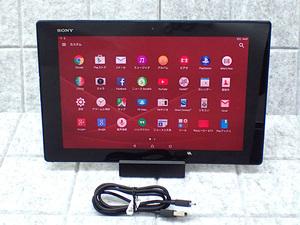 【中古】J:COM版 Xperia Z2 Tablet SGP511 WiFiモデル 16GB ブラック SONY クレードル・ケーブル 付 android タブレット 本体(LJA716-2)