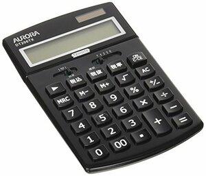 ブラック オーロラジャパン 中型卓上電卓 税計算機能付き ブラック DT206TXB