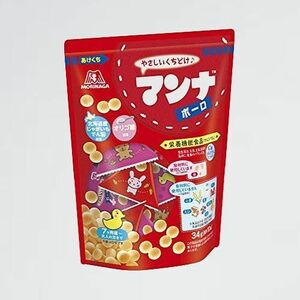 新品 未使用 マンナボ-ロ 森永製菓 E-5K 34g×5袋 【栄養機能食品(カルシウム・鉄)】