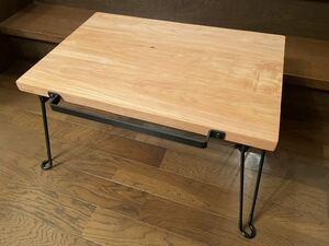 1円スタート!「キャンプテーブル」ウエスタンレッドシダー材 ハンドメイド 折り畳みテーブル