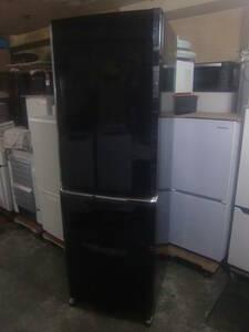 ★◇3ドア冷凍冷蔵庫 370L 三菱 MR-C37Y-B 2014年製 黒 中古 大型 右開き 家電 自動製氷 お部屋まで搬入 送料無料 即決 0120