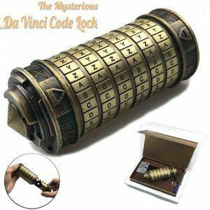 新品 金属 ダヴィンチコード ケース M1303a 宝箱 金庫 洋風 114 クリプテックス ロック ダイヤル 重厚DO76