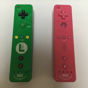 Wiiリモコンプラス ルイージ ピンク 2本セット 動作未確認 ジャンク コントローラー ウィー