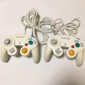 ゲームキューブ コントローラー ホワイト 白 2つセット 動作確認済み