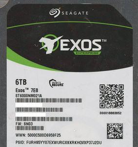 SEAGATE製HDD ST6000NM021A 6TB SATA600 7200