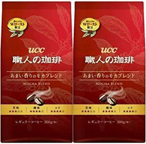 UCC 職人の珈琲 コーヒー豆 (粉) あまい香りのモカブレンド 300g×2個