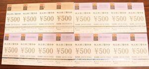 送料無料 クリエイト・レストランツ・ホールディングス 株主ご優待券 500円×16枚 計8000円分 2022/2/28まで延長