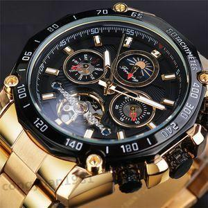 新品注目★男性高級腕時計 機械式 自動巻 多機能 トゥールビヨン カレンダー 曜日表示 サン&ムーン メンズウォッチ 紳士