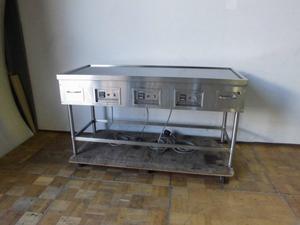 中古厨房 SANPO 三宝 業務用 電気グリドル 鉄板焼き台 鉄板テーブル 三相 200V 厚み20mm お好み焼き 温度設定可能 W1500×D650×H800mm