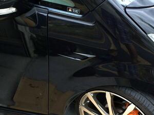 送料込 汎用ダミーダクト フェンダーフィン ガーニッシュ ブラック カーボン調 ベンツ C63風 フロント サイド バンパー エアロ スポイラー