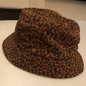 イタリア製 美品 希少 BOTTEGA VENETA ボッテガヴェネタ レオパード柄 ヒョウ柄 サイズL ハット 帽子