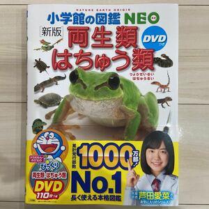 新品同様★小学館の図鑑NEO 両生類はちゅう類 ※本のみ、DVD無し