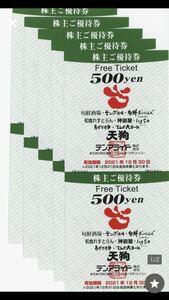 テンアライド 株主優待券 天狗 テング酒場 など 5,000円分 期限12月30日が延長され、2022年3月31日まで(大晦日は使用不可)その1