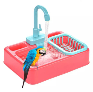 自動バードフィーダー バスタブ スイミングプール 蛇口シャワー ウォーターディスペンサー バードケージバスルーム 鳥のおもちゃ