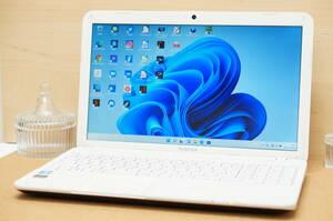 【最新Windows11 & 10 デュアルブート仕様♪】 東芝 dynabook T452/33HWY リュクスホワイト Celeron / 4GB / 640GB / DVD / Webカメラ