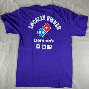 古着 アメリカ 海外 Tシャツ Mサイズ PORT&COMPANY JMU Start Wearing Purple LOCALLY OWNED Domino's ドミノピザ