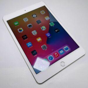 【良品・バッテリー71%・simフリー】iPad mini4 Wi-Fi + cellular シルバー 64GB 本体◆スマモン3917