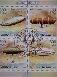 特価!(画像4枚) ギニアビサウ/ルワンダ/モンゴル切手『飛行』4シートセット