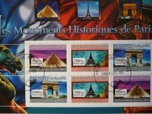 特価!(画像2枚) ギニア/トーゴ切手『歴史遺産』2シートセット