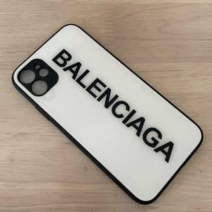【新品】iPhone11ケース スマホケース BALENCIAGA バレンシアガ ホワイト