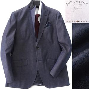 新品 定価6万 ジョセフアブード JOE COTTON シャンブレー ジャケット 3L 紺 【J51198】 JOSEPH ABBOUD ブレザー 秋春 メンズ