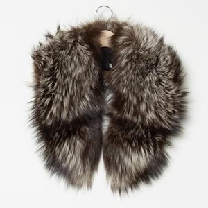 【1円スタート】SAGA FOX サガフォックス 銀サガ 襟巻き ショール 毛皮 高級 上質 フォーマル 和装 ブラウン 茶色