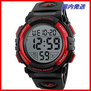 02 watch スポーツウォッチ 迅速対応 led 新品 防水腕時計 アラーム メンズ 新品Timever(タイムエバー)デジタル腕時計 1T