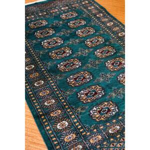 新品 パキスタン手織り絨毯 カーペット 玄関マット, アクセントラグ ボハラ デザインsize: 123cm× 77cm stn: 5506