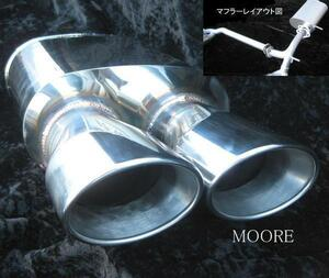 【MOORE】MH21SワゴンR(3/4/5型) オーバルテール左右4本出し