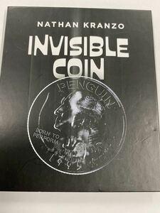 超人気★INVISIBLE coin★透明コインがグラスの中に貫通する★NATHAN KRANZO★インビジブルコイン
