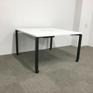 ミーティングテーブル 要組立 角テーブル ワークフィット キャスター付 コクヨ 中古 TM-846733B