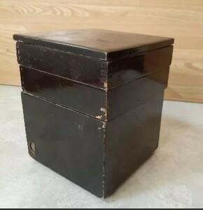 小さめ重箱 木製 三段重 年代物