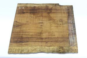 ◇唐木 素材 銘木 加工材 板材 DIY 建築材料 無垢 一枚板 棚板 飾り板 木目綺麗 材質不明(乾燥材) Si-3