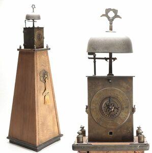 ■時代和時計 一挺天符式大名時計 高さ約101㎝■