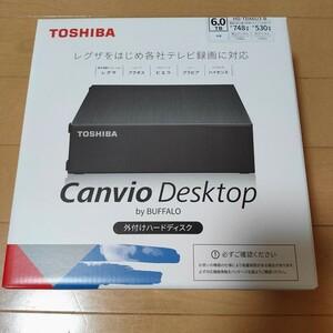 翌日発送!【新品】東芝 外付けHDD ハードディスク 6TB Canvio Desktop HD-TDA6U3-B/N