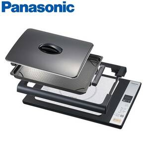 Panasonic パナソニック IHホットプレート KZ-HP1000 IH調理器 IHクッキングヒーター BLACK ブラック 黒 レシピ集兼取扱説明書付き