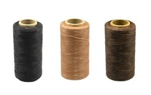 ★送料無料★260m×3色 レザークラフト 蝋引き糸 ロウ引き糸 ワックスコード ★3色セット