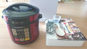 電気圧力鍋 ショップジャパン 家庭用マイコン圧力鍋 炊飯器 #クッキングプロ 圧力鍋レッド 赤 かわいい おしゃれ