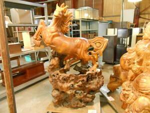 大きい木製暴れ馬