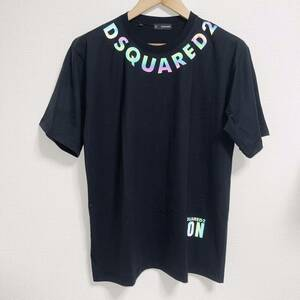 dsquared2 Tシャツ logo 光反射 ブラック サイズM