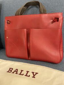 【BALLY 】メンズ トートバッグ BALLY バリー メンズ トートバッグ 銀座店購入 レディースも 最落なし 1円スタート 深紅