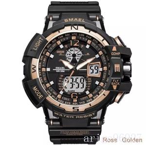 ☆新品☆ Smael ウォッチ 腕時計 メンズ デジタルスポーツ 防水時計 電子 軍事腕時計 男性 ledデジタルB OST182