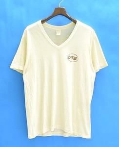 BANKROBBER (バンクローバー) V NECK PRINT T-SHIRT BEIGE L Vネック 半袖Tシャツ TEE